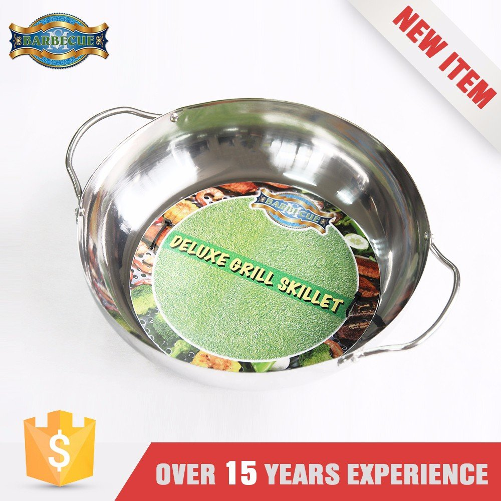 Heat Resistance Stainless Steel Nonstick Unique Grill Barbecue Wok Topper