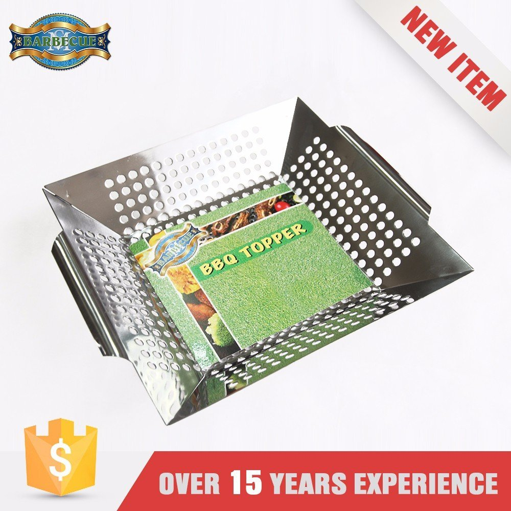 Eco-Friendly Barbecue Professional-Grade Bbq Non-Stick Rectangle Grilling Vegetable Grill Topper
