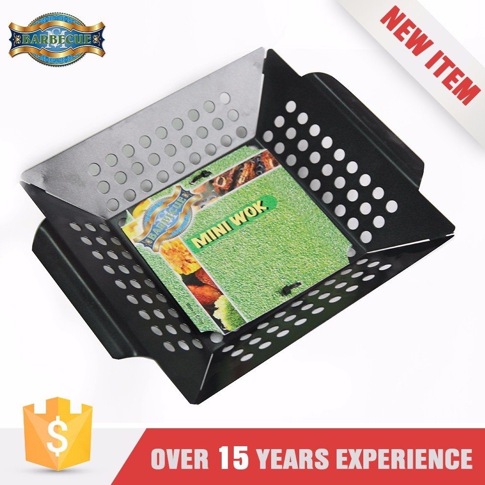 New Product Corrosion Resistance Grilling Bbq Grill Square Wok Topper