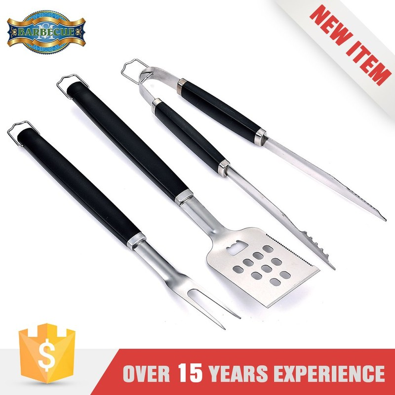 New Product Premium Quality 3 Pieces Bbq Grill Tool Set