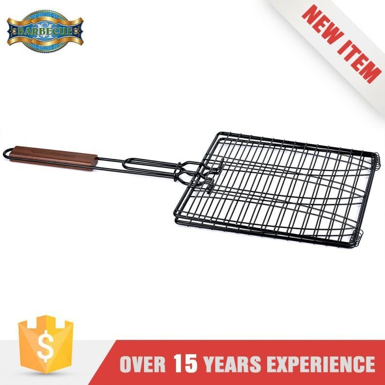 Heat Resistance Bbq Grilling Triple Fish Basket