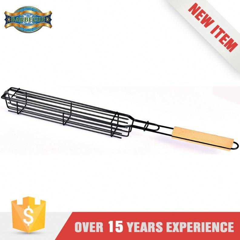 Easily Cleaned Barbecue Grill Single Kebob Basket