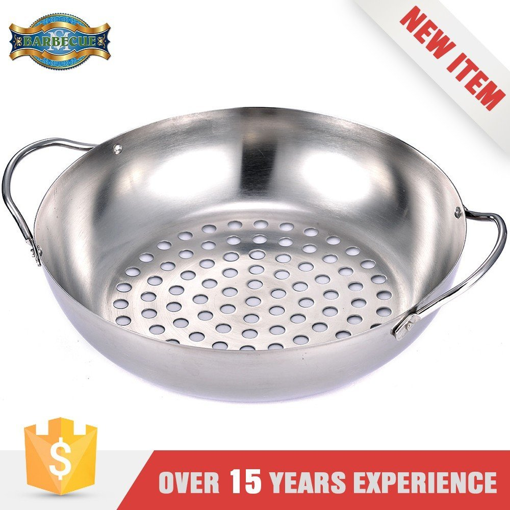 Outdoor And Indoor Or Cooking Non Stick Barbecue Wok Topper