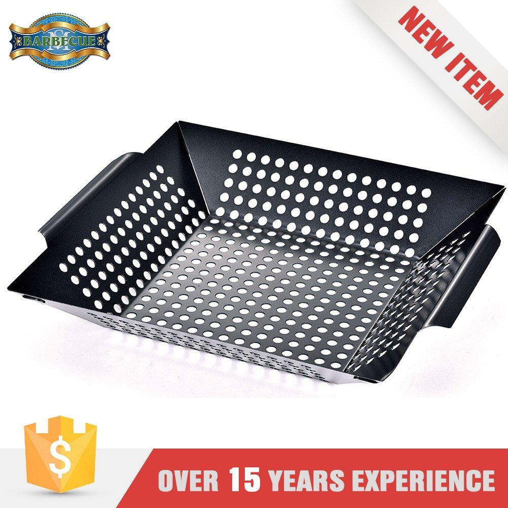 Wholesale Easily Cleaned No Stick Bbq Grill Pan Square Grilling Wok