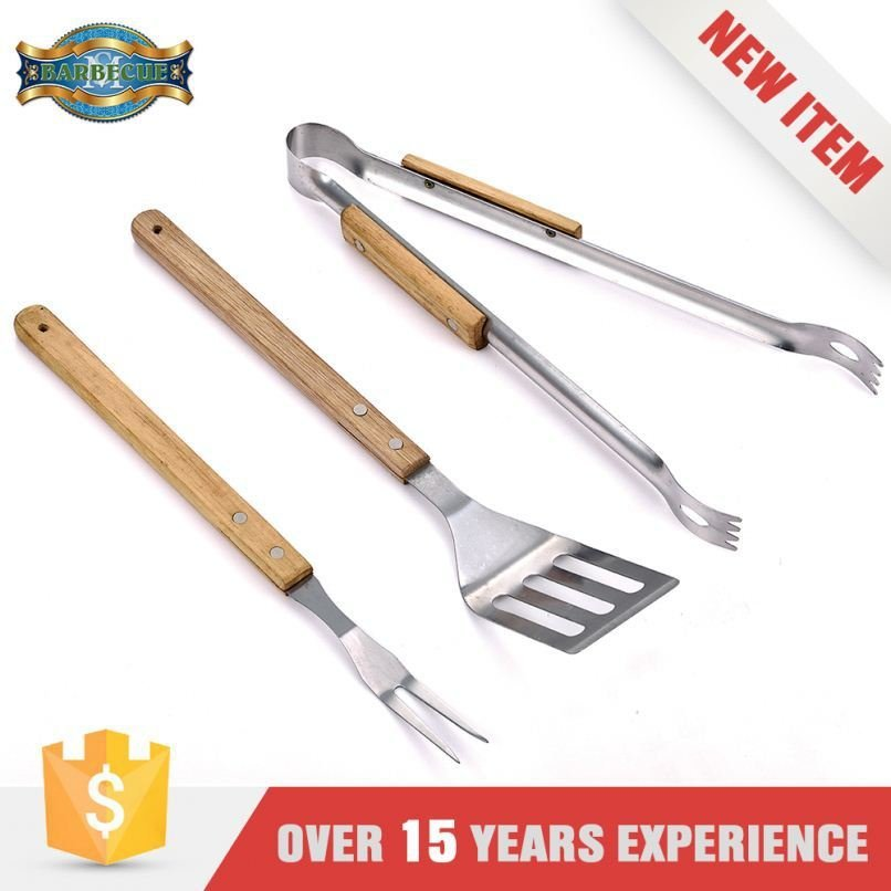 New Product Corrosion Resistance 3Pcs Set Bbq Tools