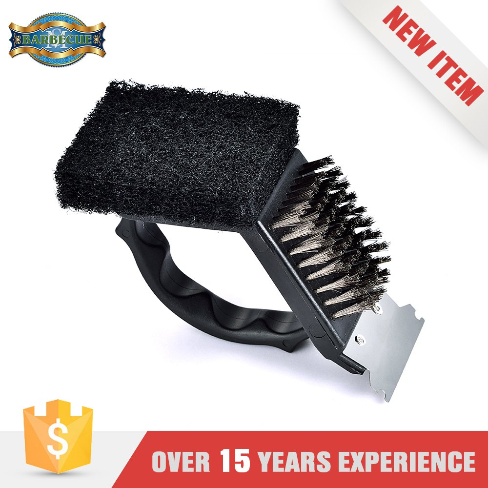 Promotion Product Bbq Grill Tool Set Barbecue Brush With Scrubber