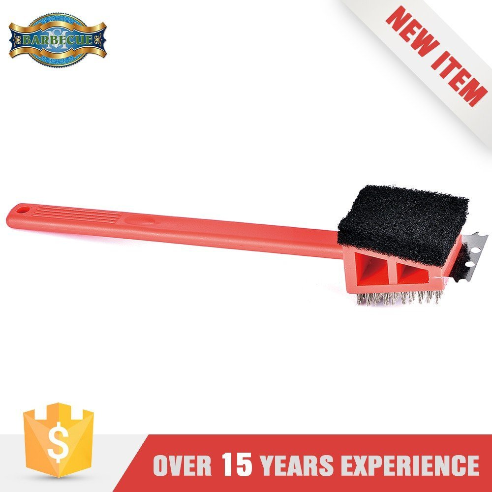 High Quality 3-in-1 Plastic BBQ Cleaning Brush