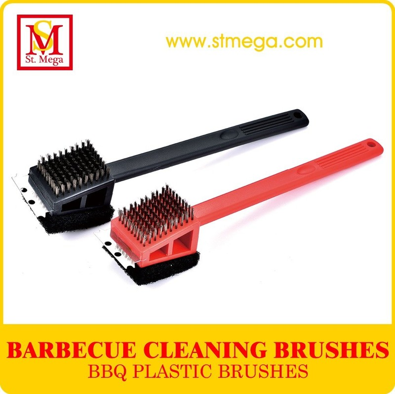 3-in-1 Plastic BBQ Grill Cleaning Brush