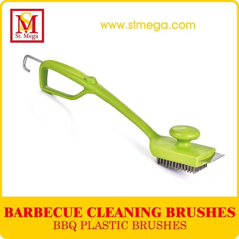 Large Head Green BBQ Grill Brush