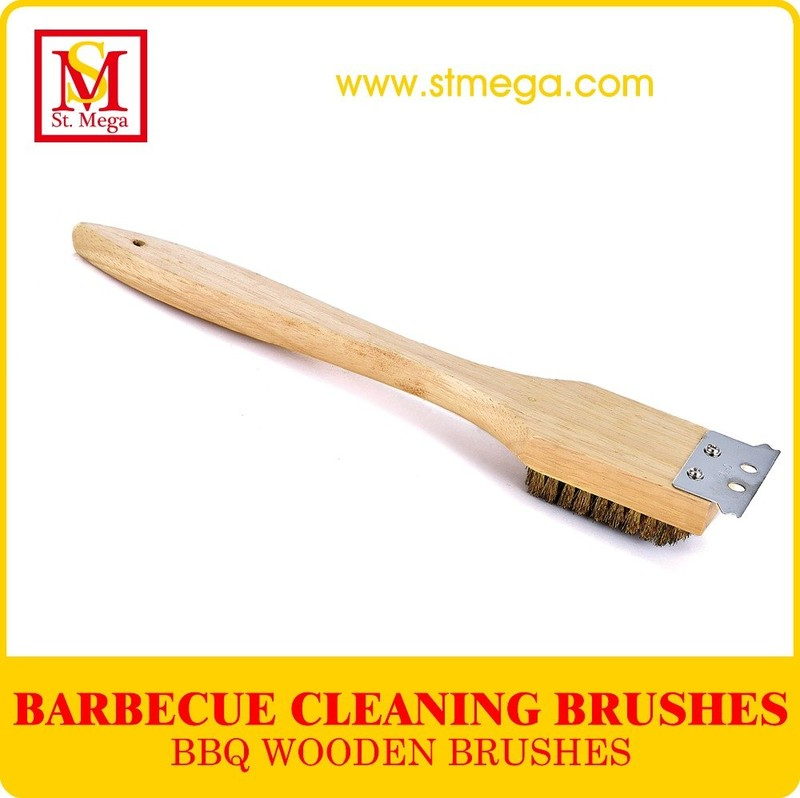Wooden Handle BBQ Grill Brush