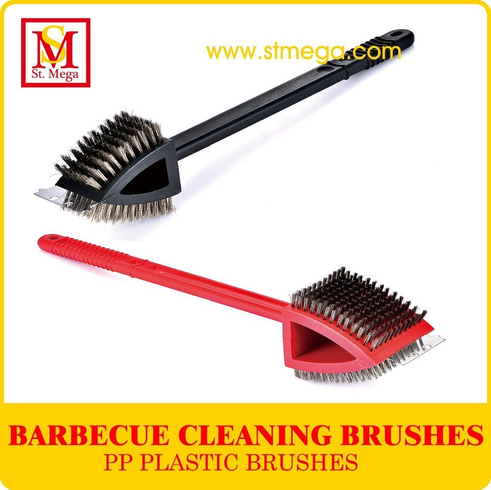 Multifunction Stainless Steel Bristle Grill Cleaning Brush
