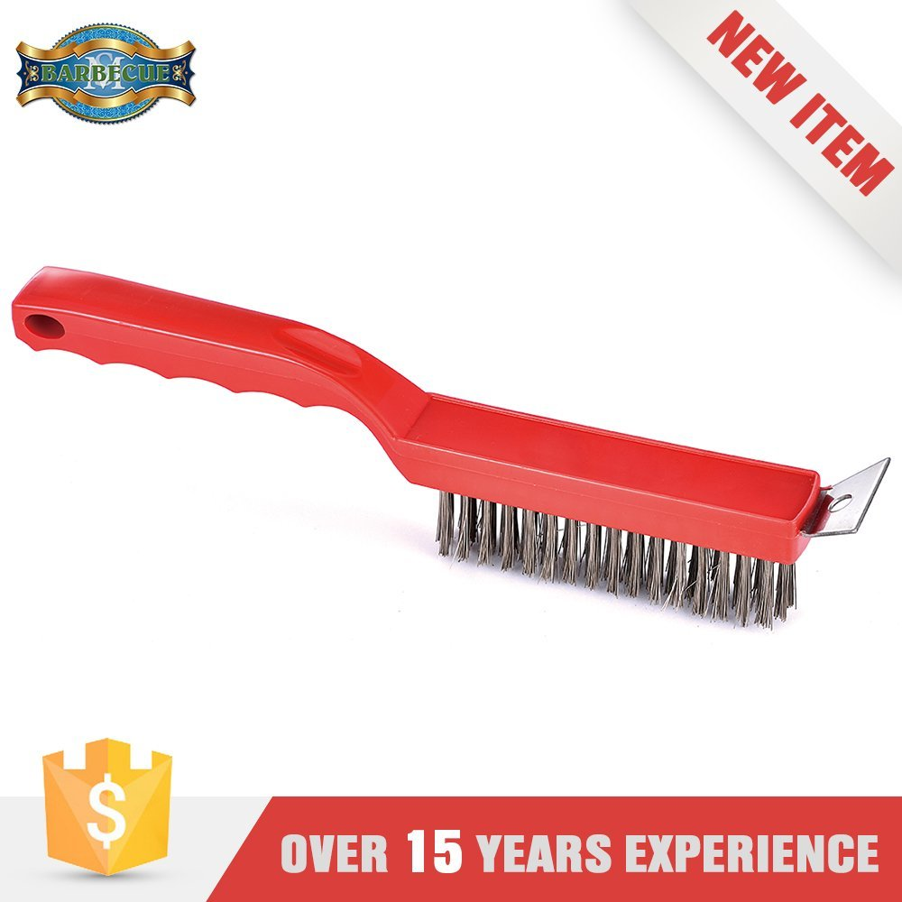 Made In China Barbeque Plastic Handle Cleaning Bristle Brush For Bbq