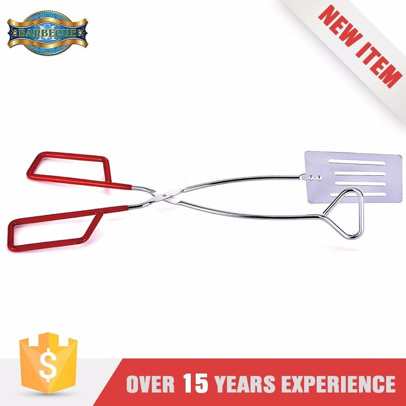 Hot Selling Easily Cleaned Bbq Tools 2 In 1 Spatula Tong