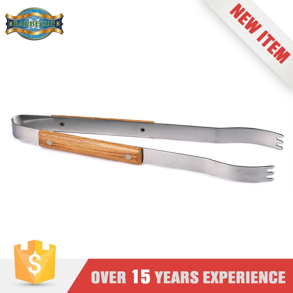 China Supplier Cheap Price Bbq Tools Set Wooden Long Tongs